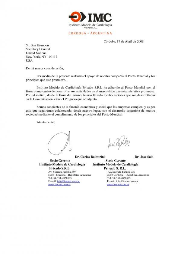 Carta formal elaborada