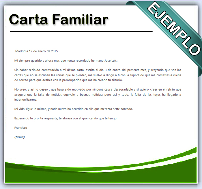carta informal definición