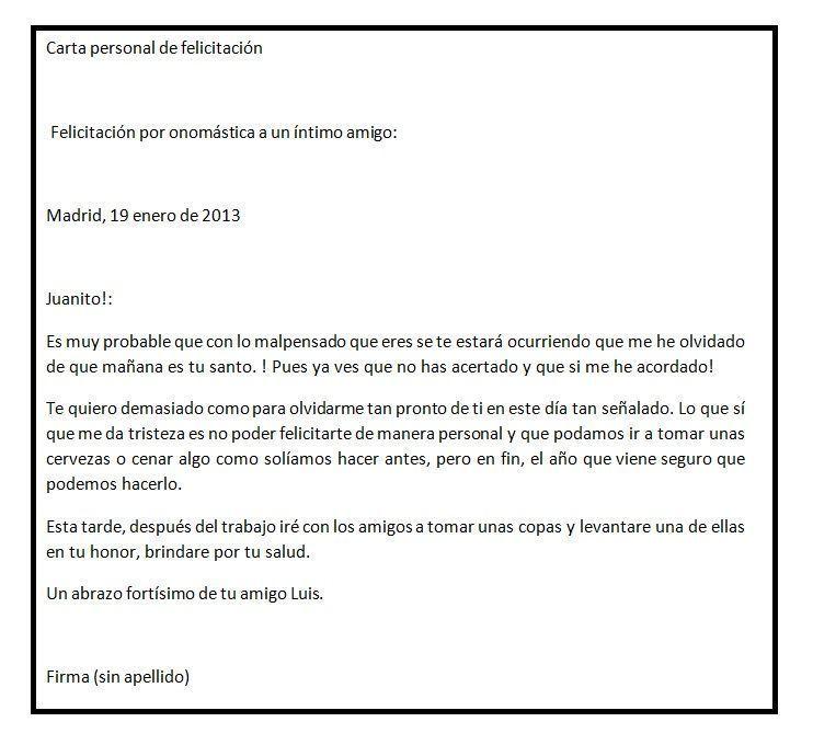 carta ejemplo