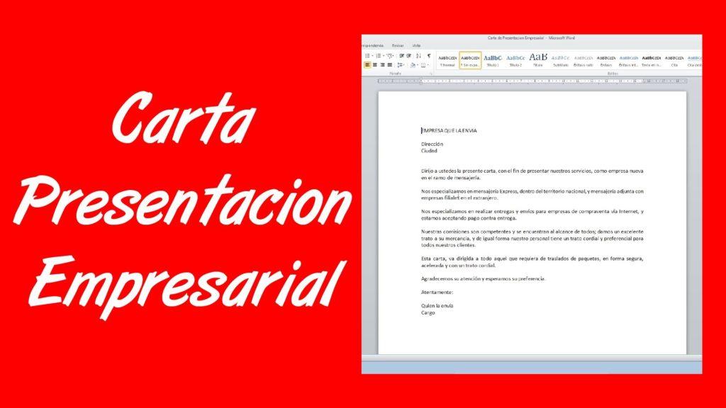 Carta de presentación empresarial ejemplo