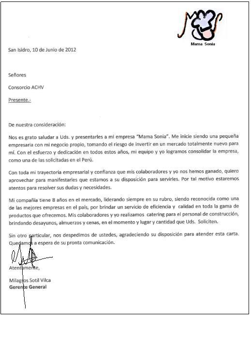 Carta empresarial constructora