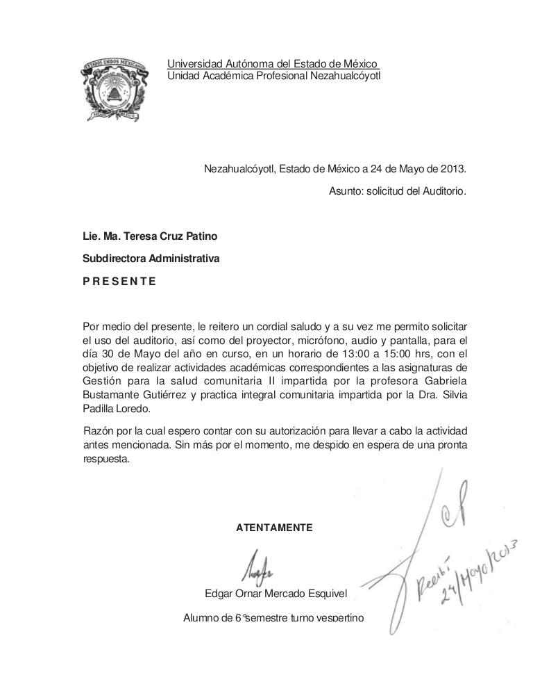 carta de exposición de motivo para trabajo