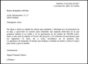 Carta de solicitud partes estructura y ejemplos 2018 Bod solicitud de chequera
