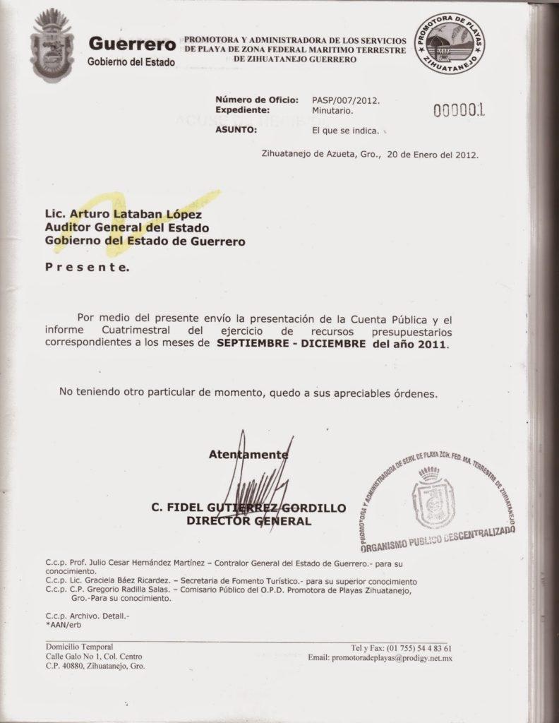 carta oficio de solicitud